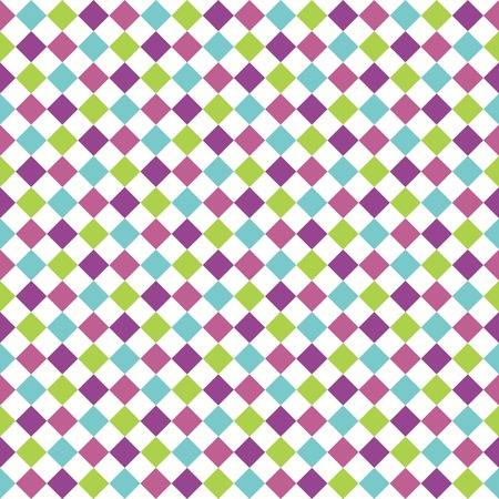 Seamless pattern with multicolored rhombuses Vector