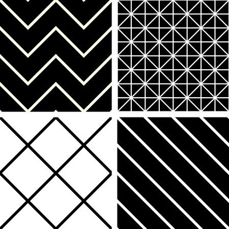 Patrones de costura blanco y negro Vectores