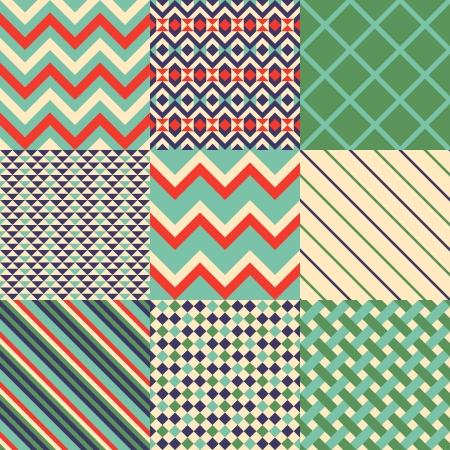 Seamless patterns wih geometric pattern