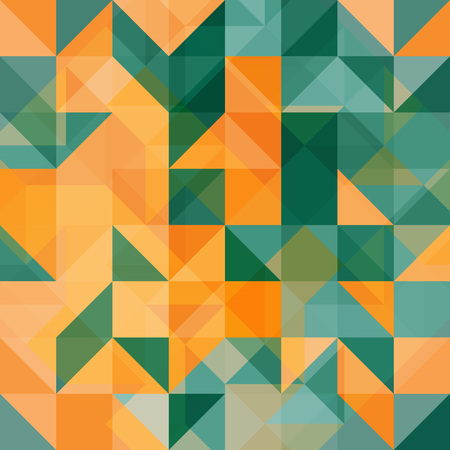 Abstract background green and orange Vector