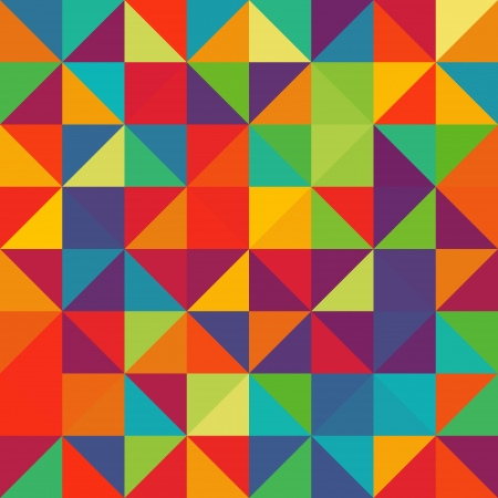 Seamless pattern with multicolored triangles Vector
