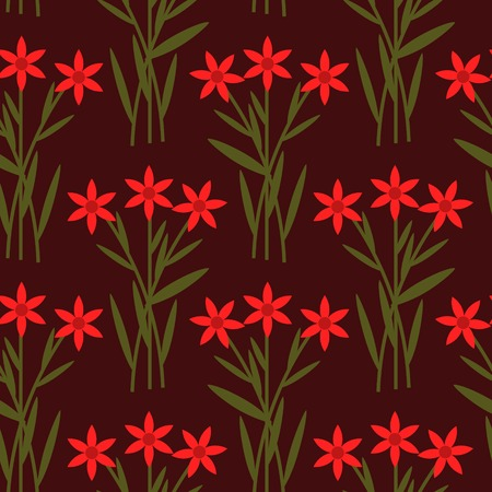 patten: Seamless patten with red flowers Illustration