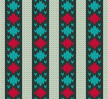 Seamless pattern ornamental knit imitation
