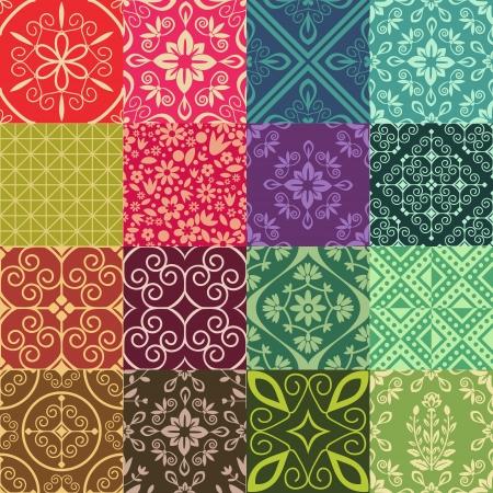 ダマスク織飾りシームレス パッテン コレクション