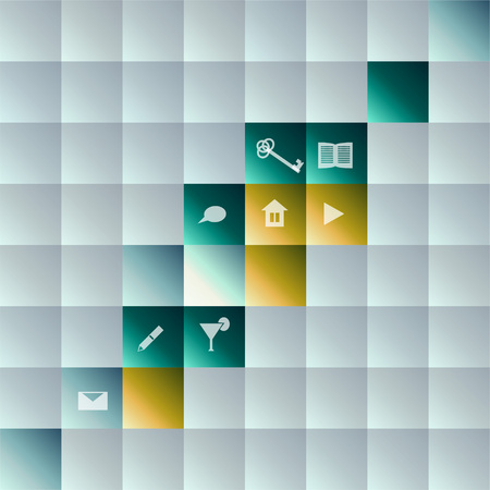 Abstract background with buttons Vector