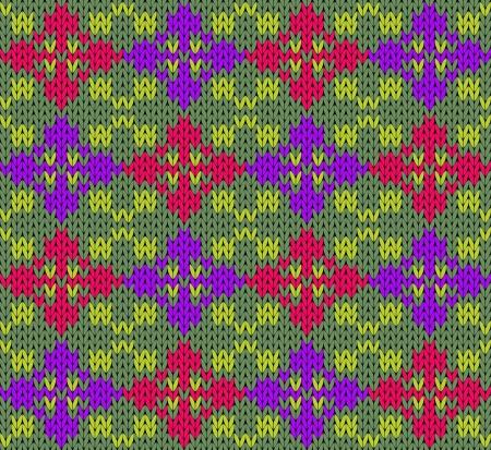 Seamless  abstract decorative knit pattern Illustration