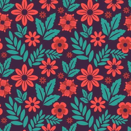Seamless patttern with decorative flowers Vector