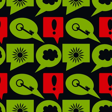 exclamatory: Seamless pattern with forum signs