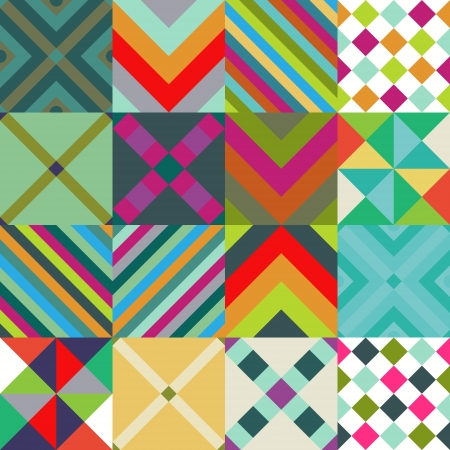 Abstract patterns set with geometric pattern Stock Vector - 24006385