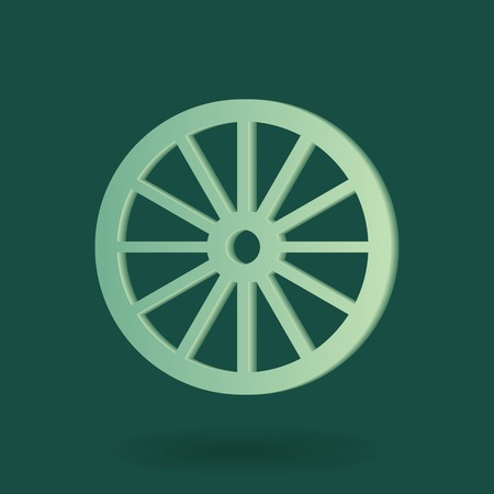 wheel abstract simple icon sign Vector