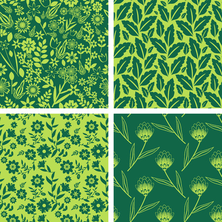 Seamless pattern with decorative floral pattern Vector