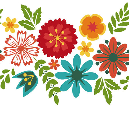 frame flower: Floral background with decorative pattern