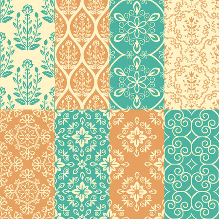 Floral background with decorative pattern Vector