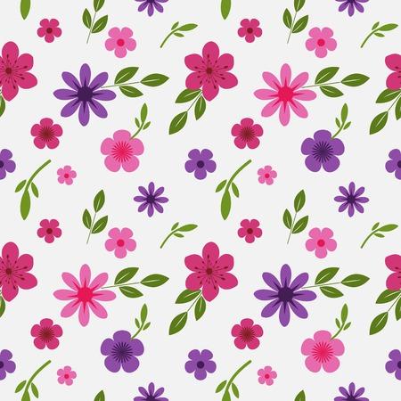 Fondo incons�til con motivos florales