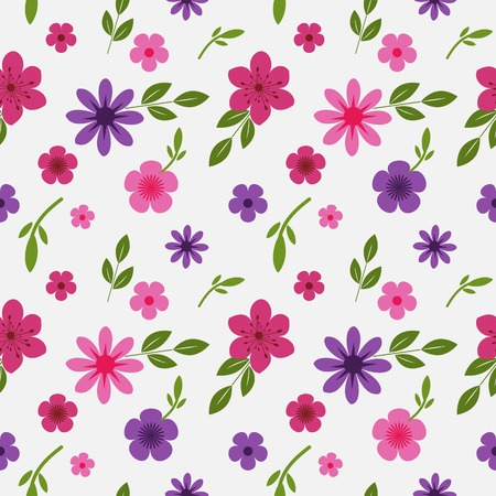 Seamless background with floral pattern Ilustração