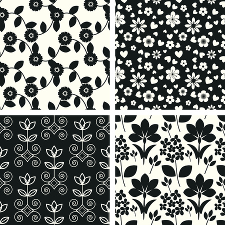 Seamless backgrounds with floral pattern