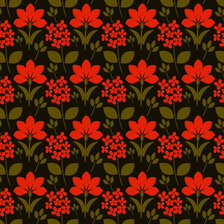 Seamless background with floral pattern photo