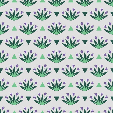 Seamless floral pattern with purple flowers Vector