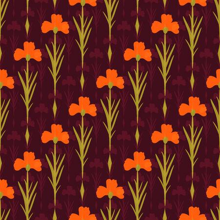 Patr�n sin fisuras con flores decorativas Foto de archivo