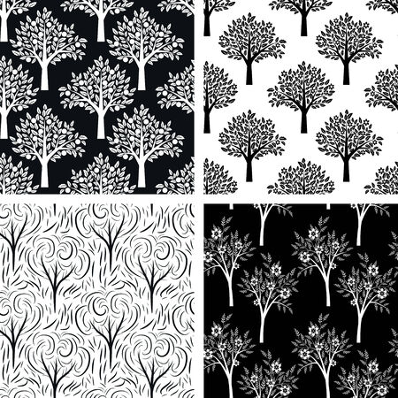 Patterns set with decorative ornament Vector