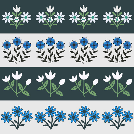 Seamless pattern with floral decor Illustration