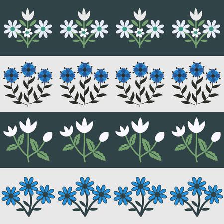 Seamless pattern with floral decor Ilustração
