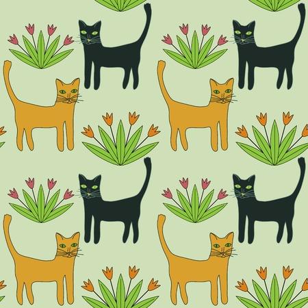 Seamless pattern with decorative ornament Ilustração