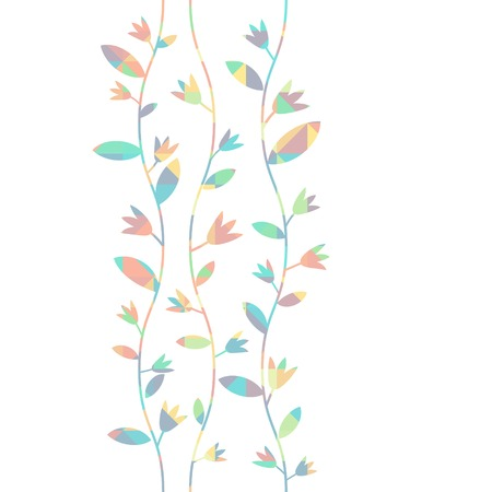 Floral background with vavy vines