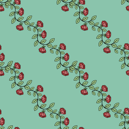 Seamless pattern with decorative ornament Illustration