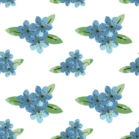 Seamless pattern with floral design Vector