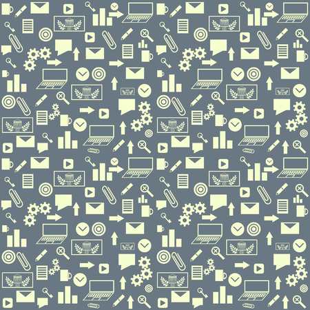 Seamless pattern with business icons Vector