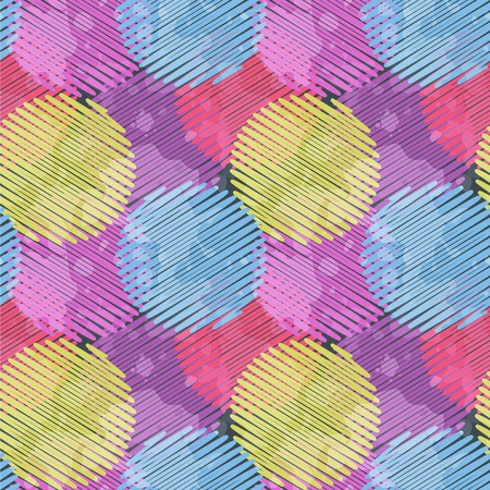 Seamless pattern with multicolored circle