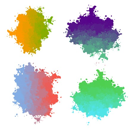 transition: Vector paint drops with color color transition