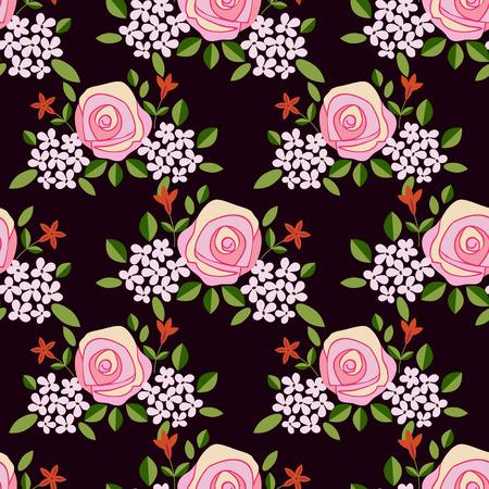 Patr�n floral Vectores