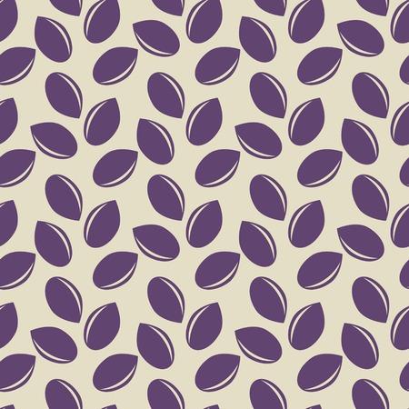 sesame seeds: Seamless pattern with sesame seeds