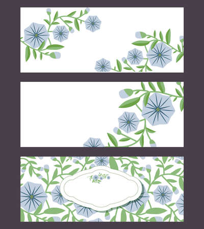 Floral banners set with bindweed