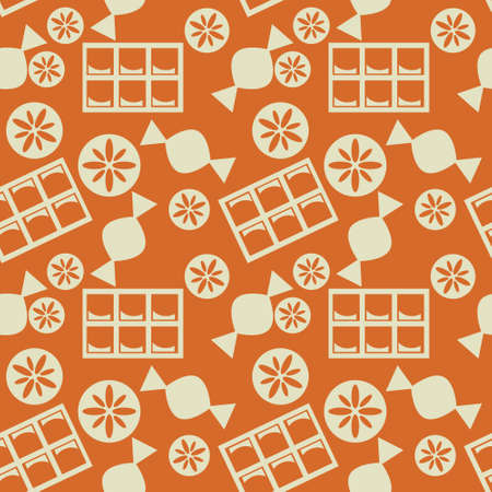 sweetshop: Seamless pattern with candies