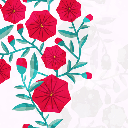 winder: Floral card with decorative bindweed