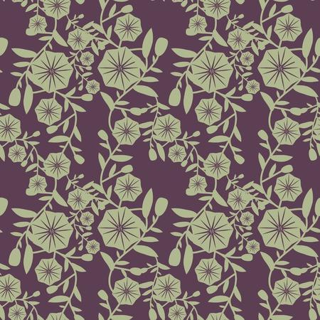 bindweed: Seamless pattern with decorative bindweed
