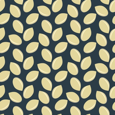 Seamless pattern with sesame seeds