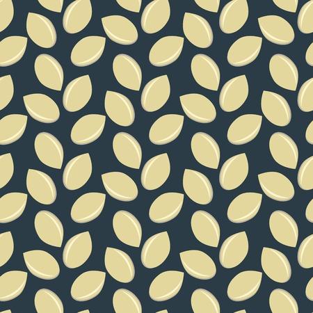 Patr�n sin fisuras con las semillas de s�samo Vectores