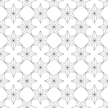 hexagram: Seamless pattern with six-pointed stars