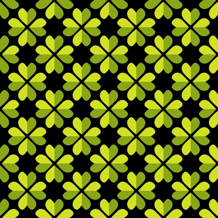Seamless pattern with clover shape ornament Vector