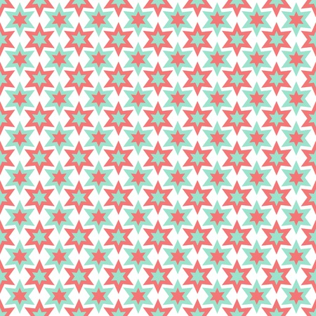 hexagram: Seamless pattern with abstract stars