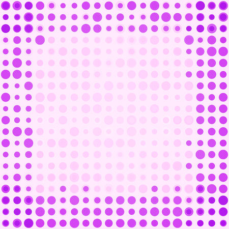 diferent: Abstract frame with circles diferent sizes Illustration