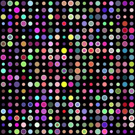 multicolored: Multicolored circles seamless decorative pattern