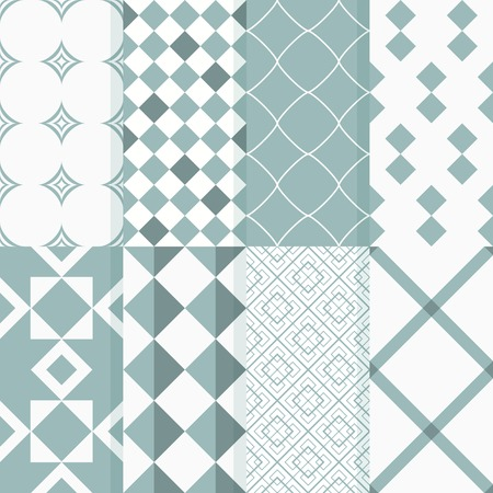 Seamless patterns with geometric rhombuses, ornament Vector