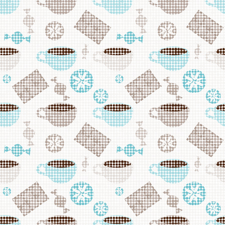 sweetshop: Seamless pattern with cups and sweets