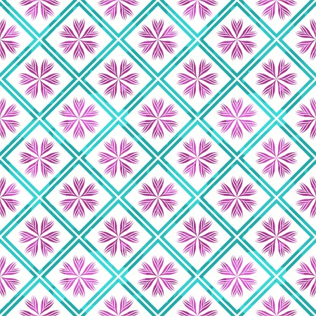 Seamless pattern wiith abstract ornament