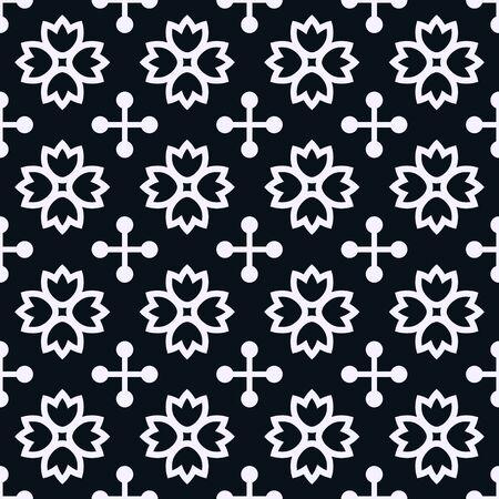 dessin noir et blanc: Seamless pattern avec ornement décoratif